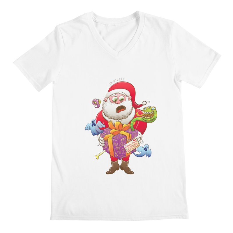 A Christmas gift from Halloween creepies to Santa Men's V-Neck by Zoo&co's Artist Shop