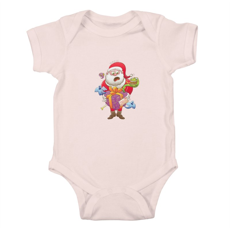 A Christmas gift from Halloween creepies to Santa Kids Baby Bodysuit by Zoo&co's Artist Shop