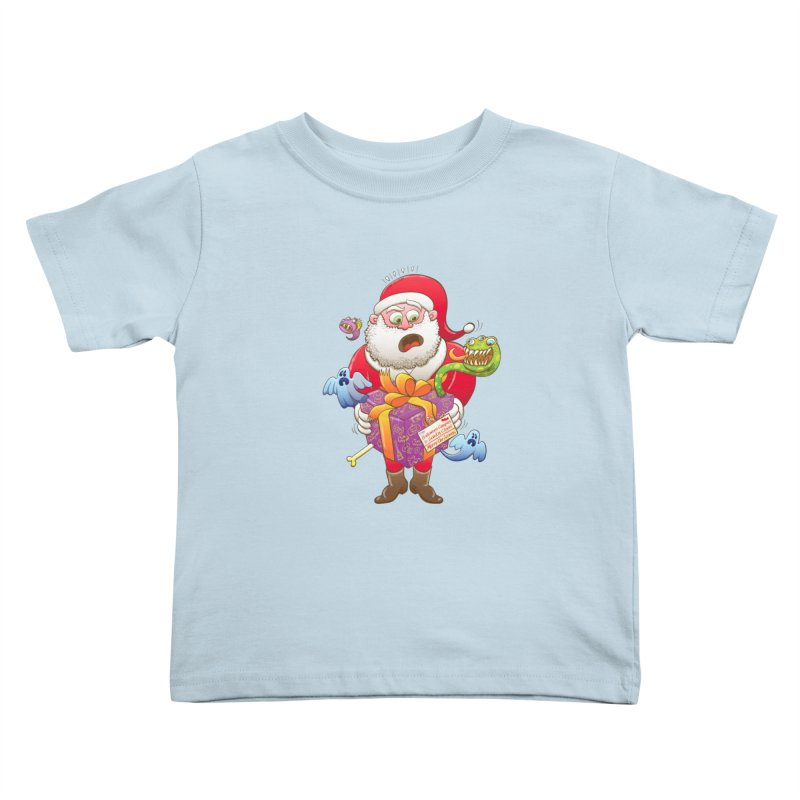 A Christmas gift from Halloween creepies to Santa Kids Toddler T-Shirt by Zoo&co's Artist Shop