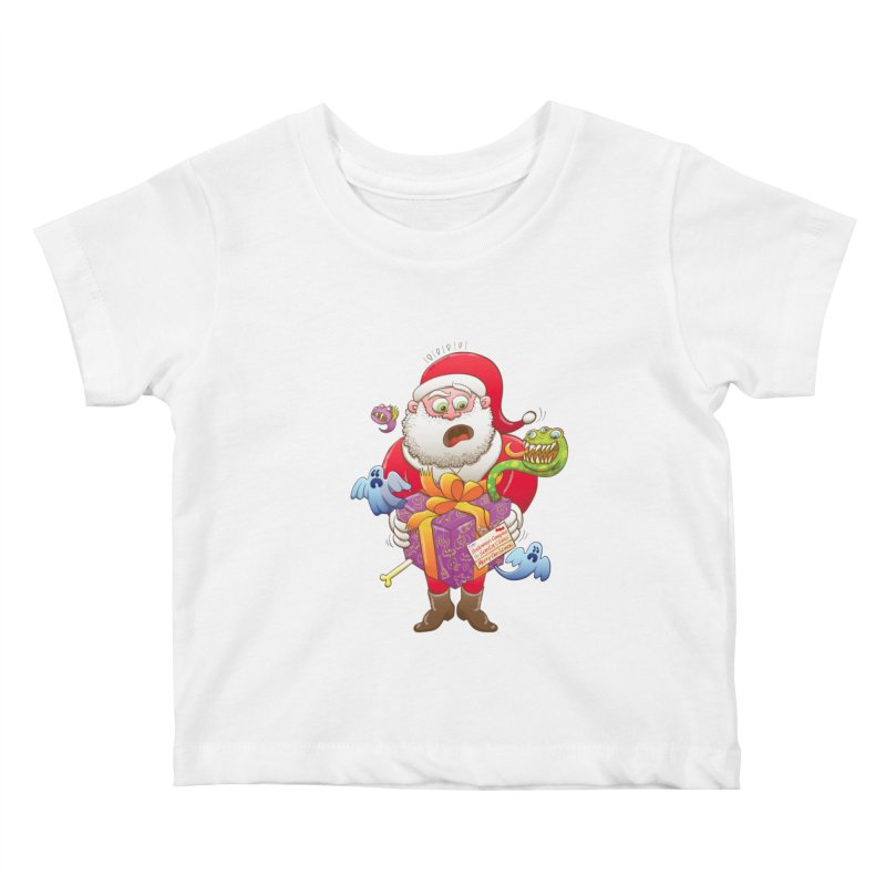 A Christmas gift from Halloween creepies to Santa Kids Baby T-Shirt by Zoo&co's Artist Shop
