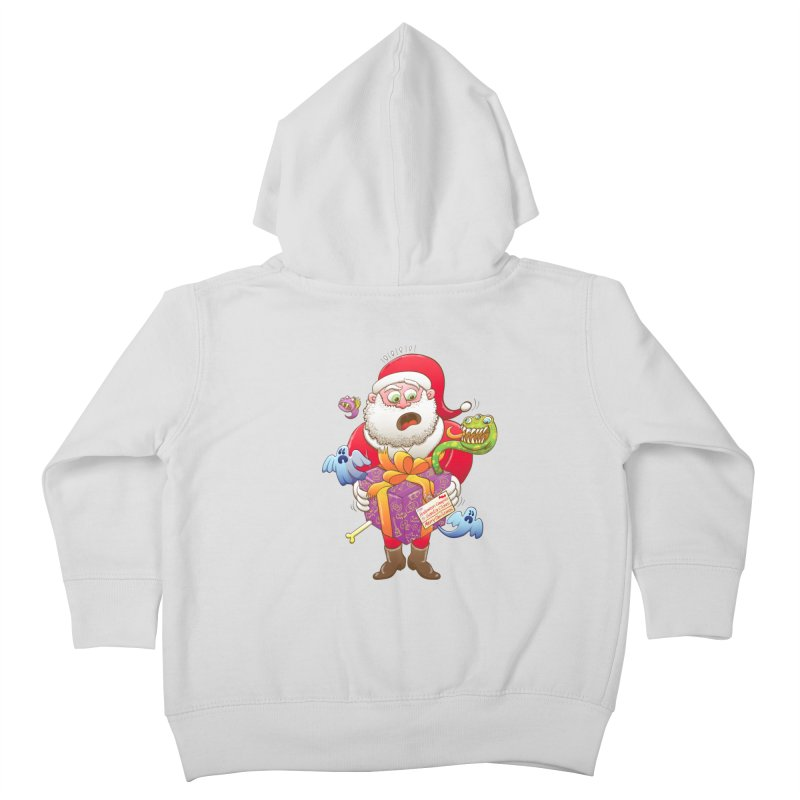 A Christmas gift from Halloween creepies to Santa Kids Toddler Zip-Up Hoody by Zoo&co's Artist Shop