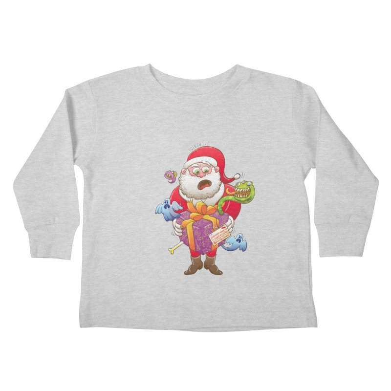 A Christmas gift from Halloween creepies to Santa Kids Toddler Longsleeve T-Shirt by Zoo&co's Artist Shop