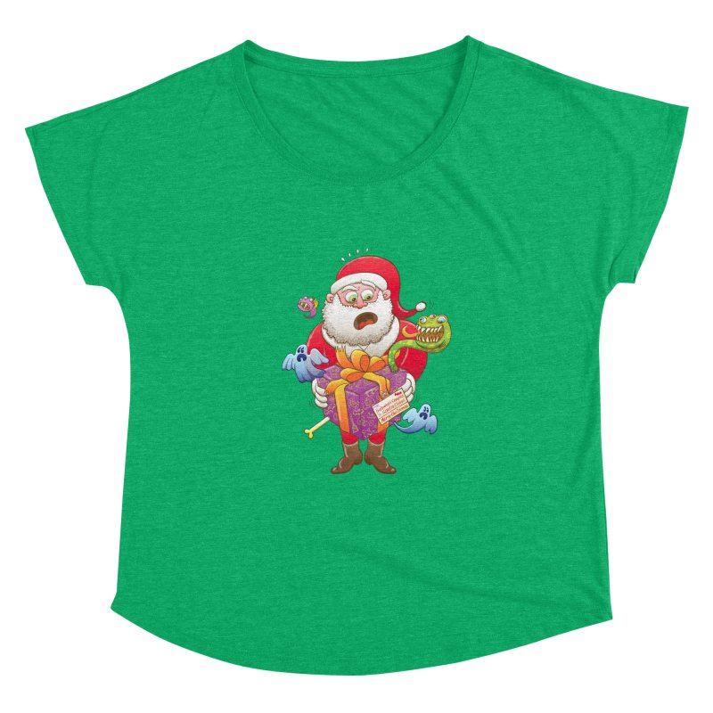 A Christmas gift from Halloween creepies to Santa Women's Dolman by Zoo&co's Artist Shop