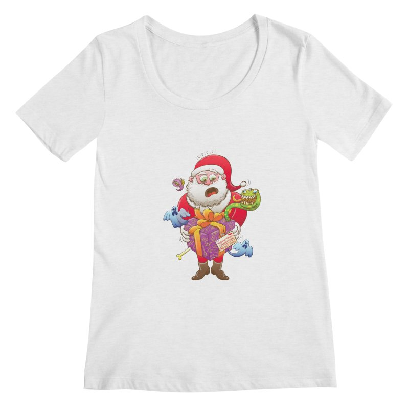 A Christmas gift from Halloween creepies to Santa Women's Scoopneck by Zoo&co's Artist Shop