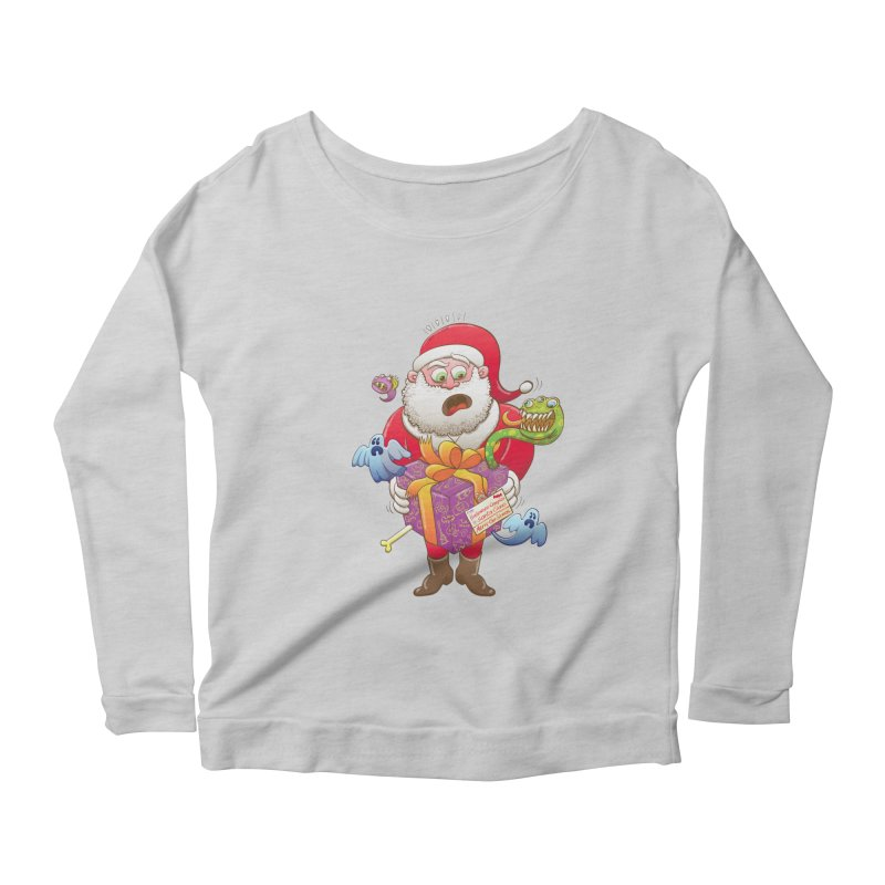 A Christmas gift from Halloween creepies to Santa Women's Longsleeve Scoopneck  by Zoo&co's Artist Shop