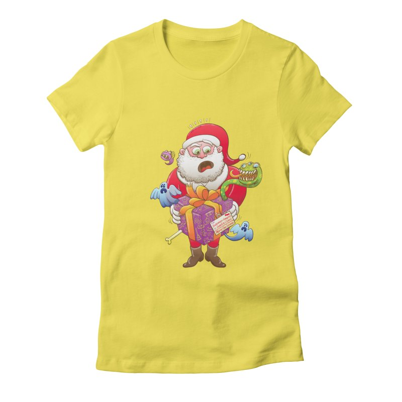A Christmas gift from Halloween creepies to Santa Women's Fitted T-Shirt by Zoo&co's Artist Shop