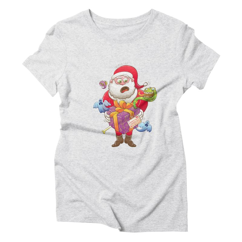 A Christmas gift from Halloween creepies to Santa Women's Triblend T-Shirt by Zoo&co's Artist Shop