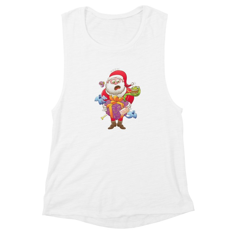 A Christmas gift from Halloween creepies to Santa Women's Muscle Tank by Zoo&co's Artist Shop