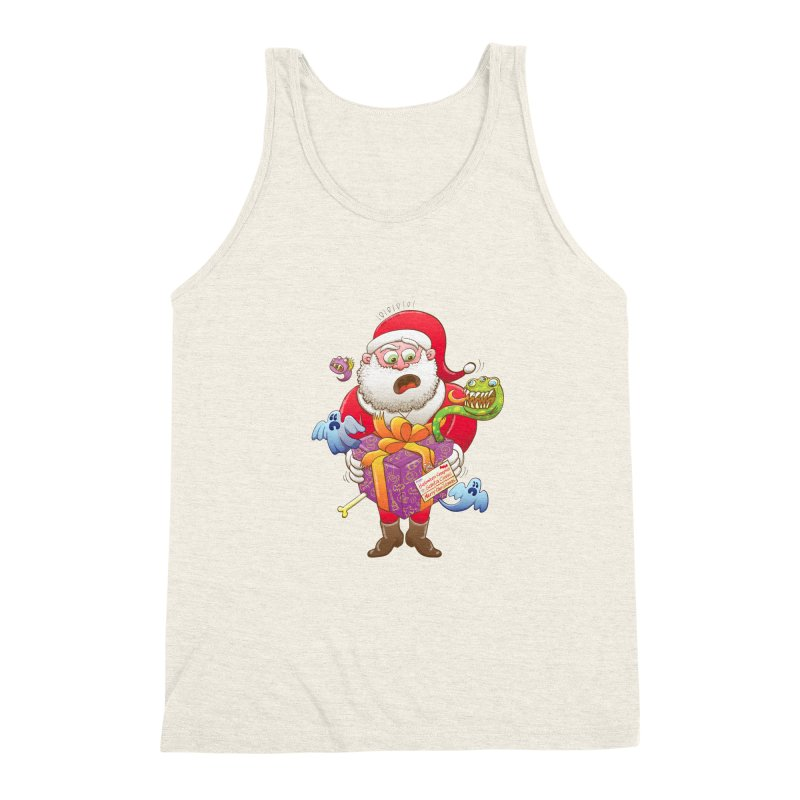 A Christmas gift from Halloween creepies to Santa Men's Triblend Tank by Zoo&co's Artist Shop
