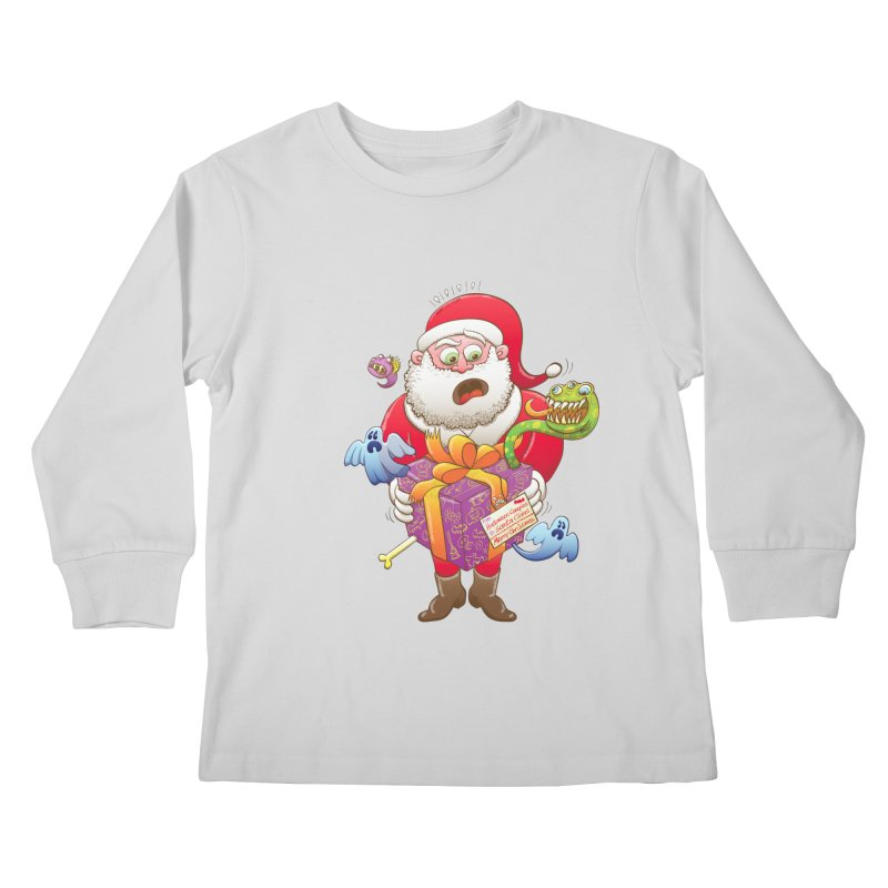 A Christmas gift from Halloween creepies to Santa Kids Longsleeve T-Shirt by Zoo&co's Artist Shop