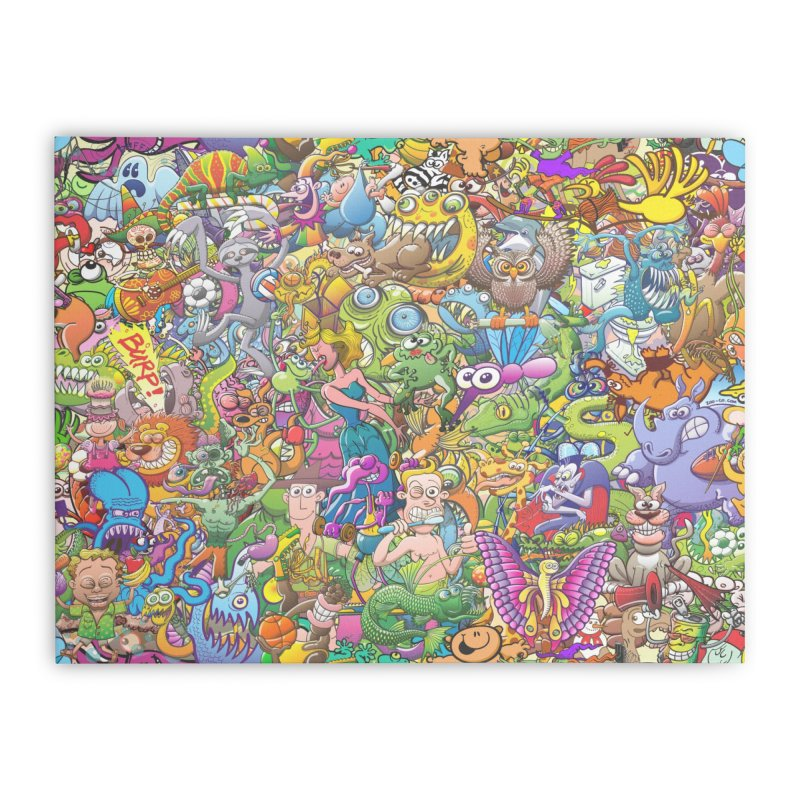 Crazy creatures festival Home Stretched Canvas by Zoo&co's Artist Shop