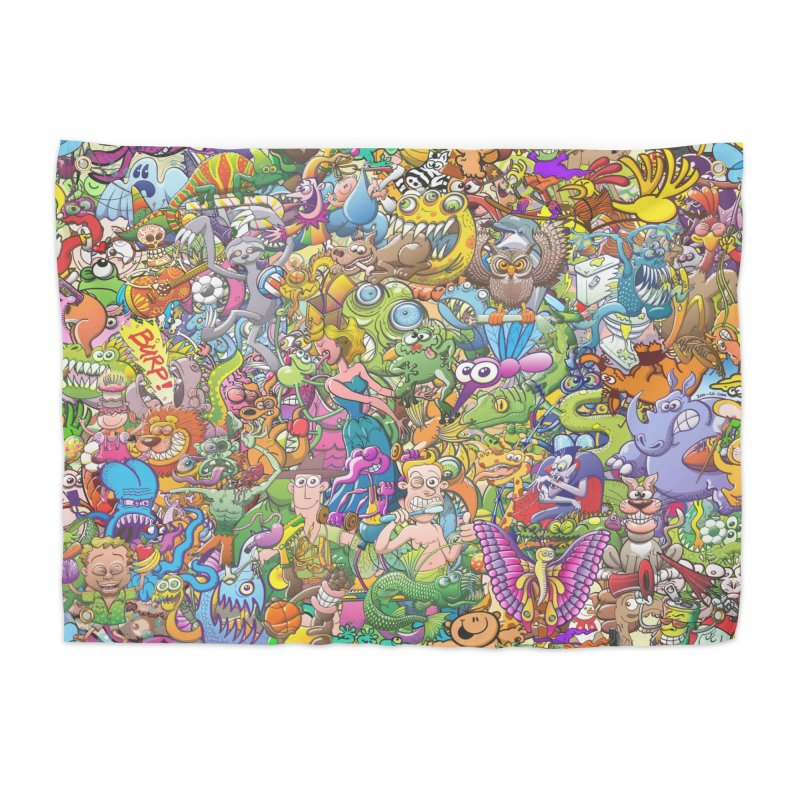 Crazy creatures festival Home Tapestry by Zoo&co's Artist Shop