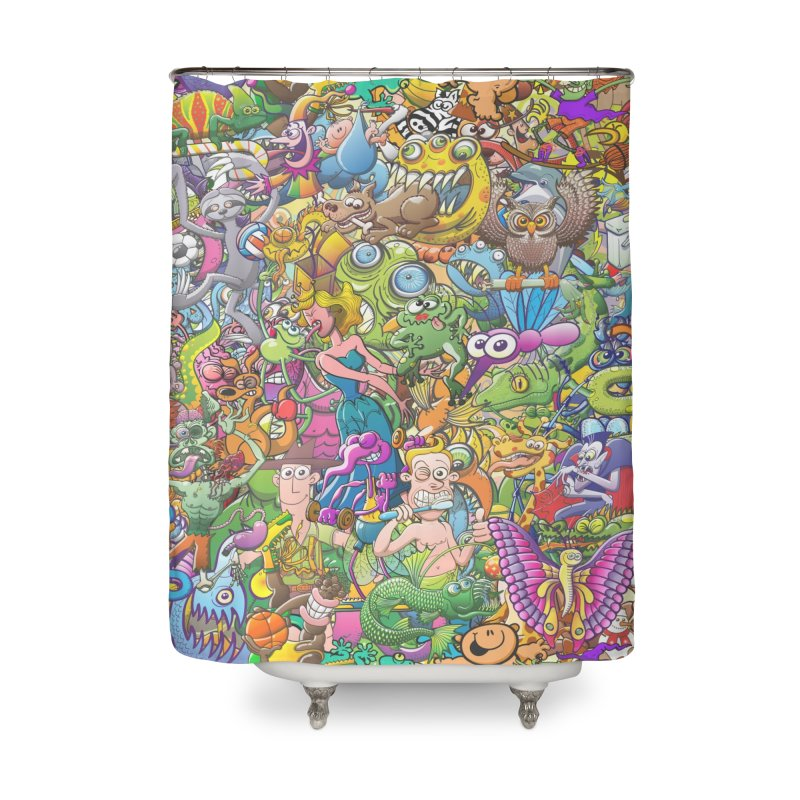 Crazy creatures festival Home Shower Curtain by Zoo&co's Artist Shop
