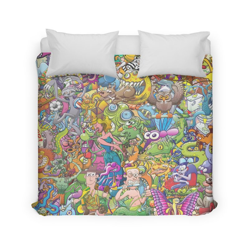 Crazy creatures festival Home Duvet by Zoo&co's Artist Shop