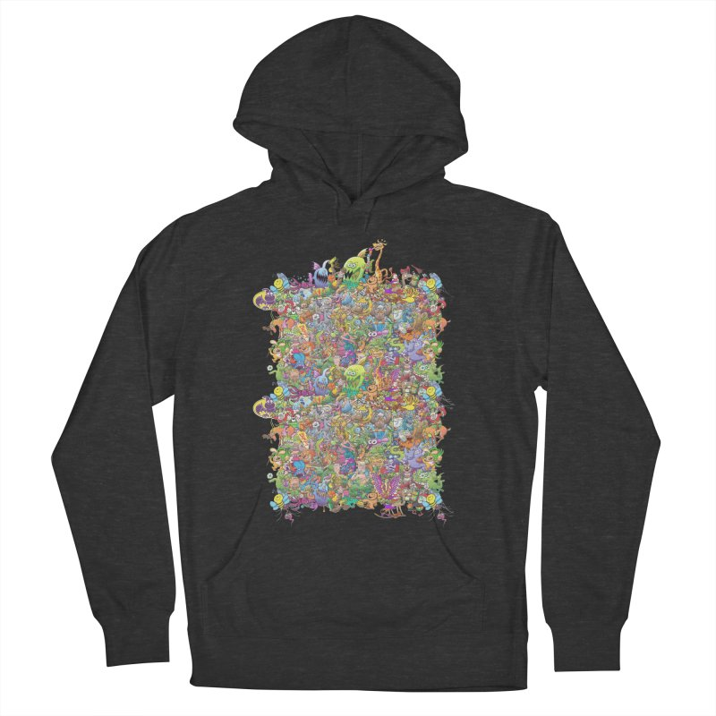 Crazy creatures festival Women's Pullover Hoody by Zoo&co's Artist Shop