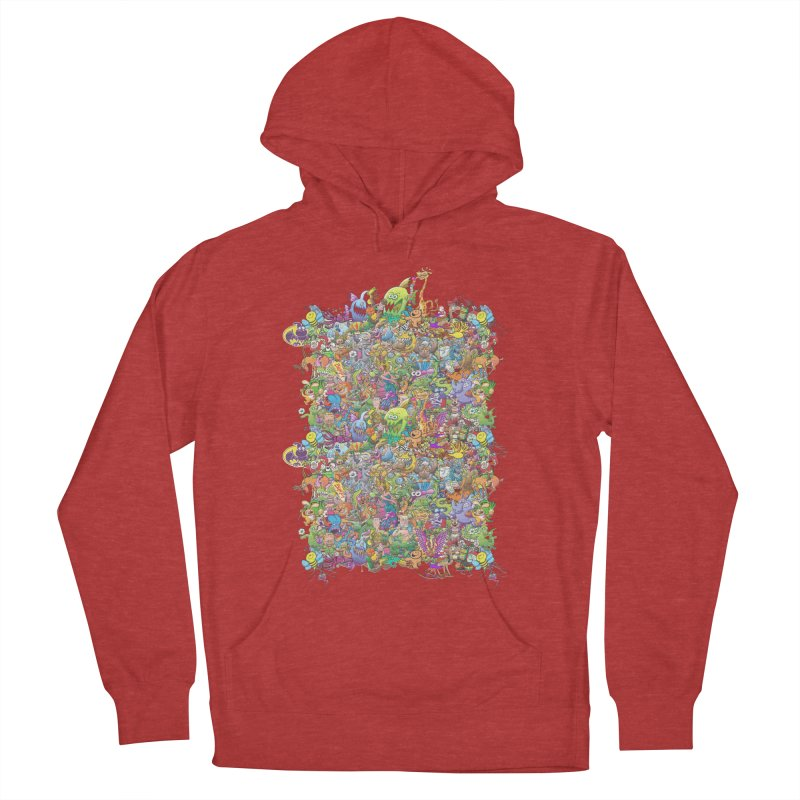 Crazy creatures festival Men's Pullover Hoody by Zoo&co's Artist Shop