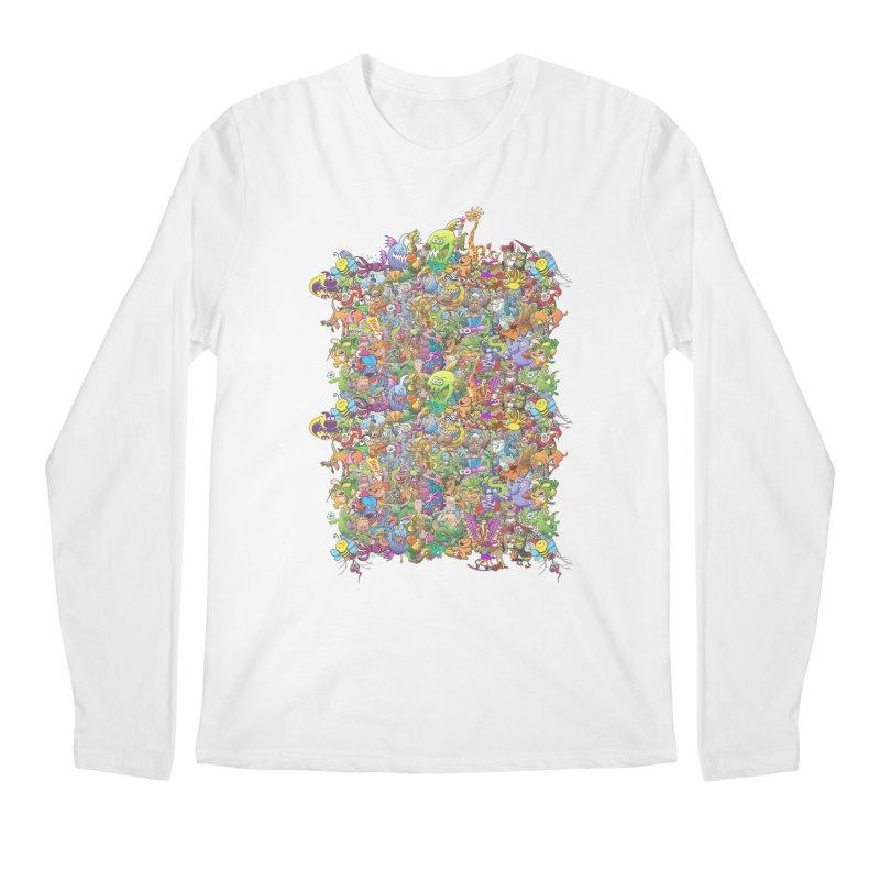 Crazy creatures festival Men's Longsleeve T-Shirt by Zoo&co's Artist Shop