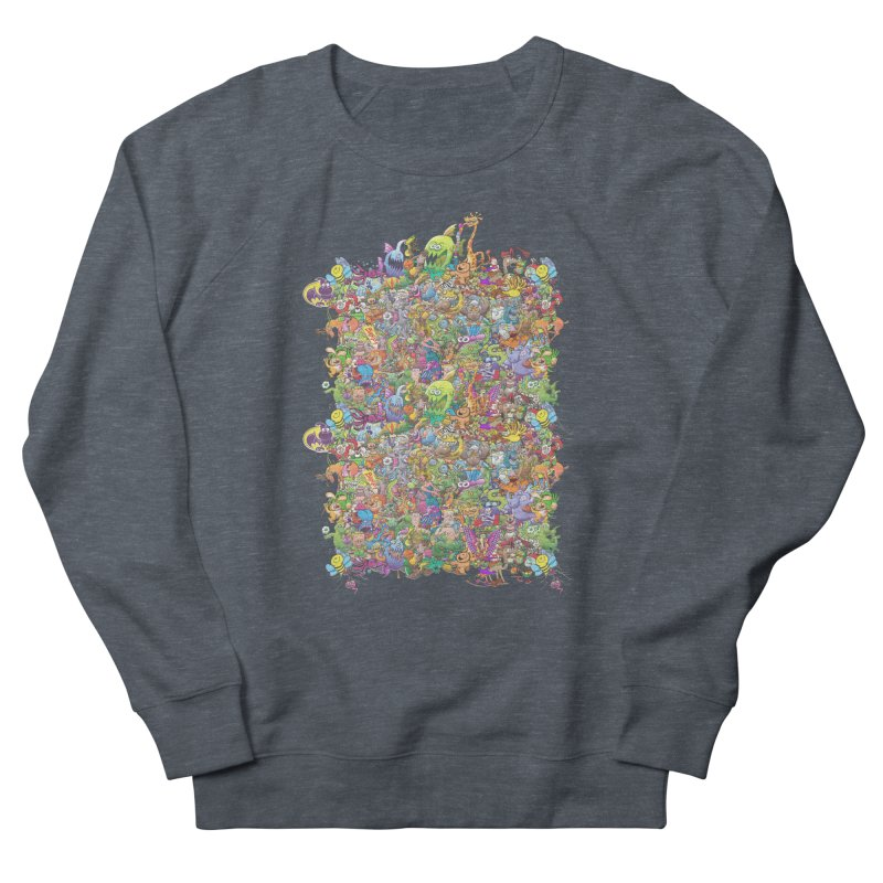 Crazy creatures festival Women's Sweatshirt by Zoo&co's Artist Shop