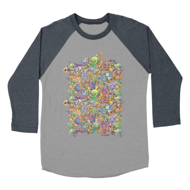 Crazy creatures festival Men's Baseball Triblend T-Shirt by Zoo&co's Artist Shop