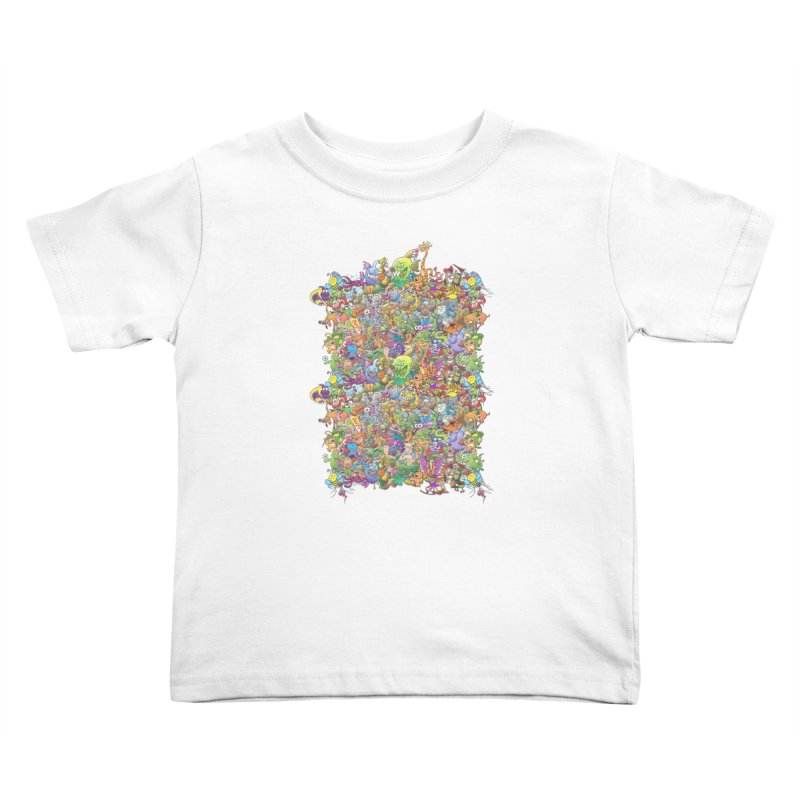 Crazy creatures festival Kids Toddler T-Shirt by Zoo&co's Artist Shop