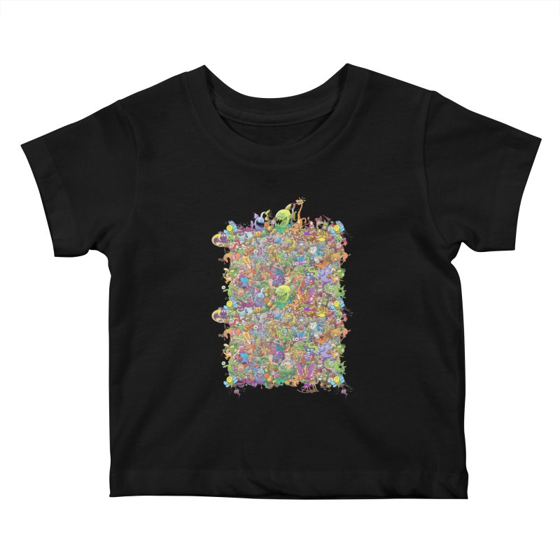 Crazy creatures festival Kids Baby T-Shirt by Zoo&co's Artist Shop