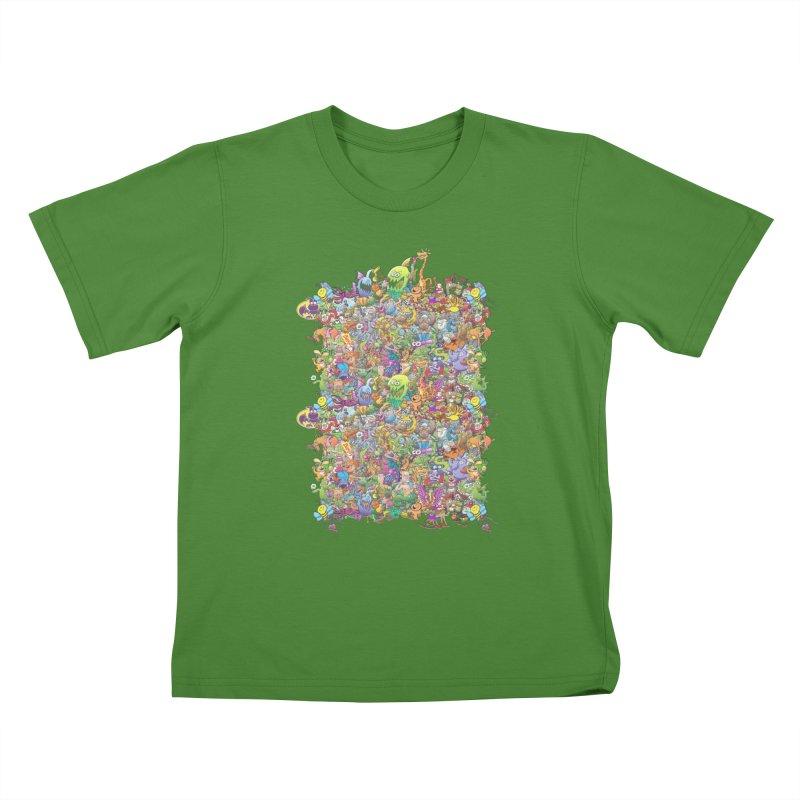 Crazy creatures festival Kids T-Shirt by Zoo&co's Artist Shop