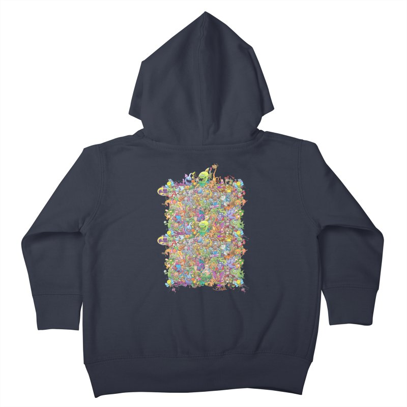 Crazy creatures festival Kids Toddler Zip-Up Hoody by Zoo&co's Artist Shop