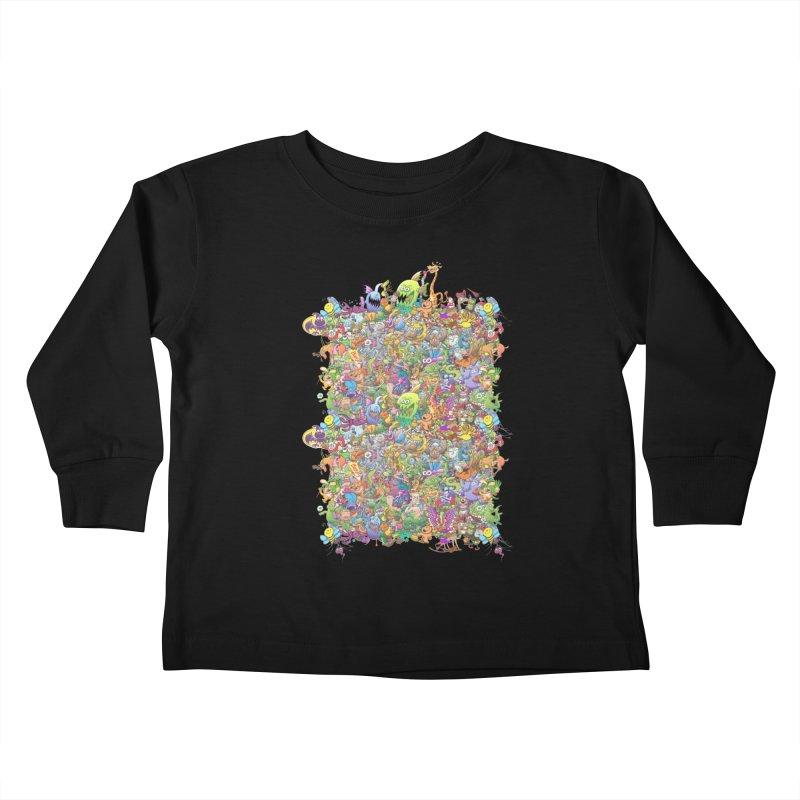 Crazy creatures festival Kids Toddler Longsleeve T-Shirt by Zoo&co's Artist Shop