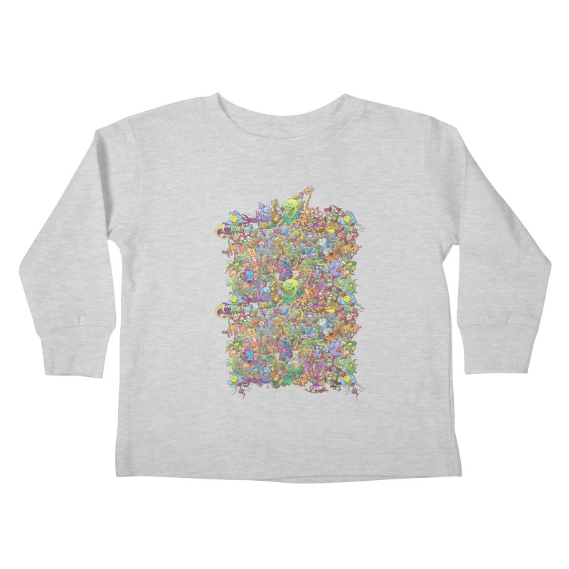 Crazy creatures festival Kids Toddler Longsleeve T-Shirt by Zoo&co's Artist Shop
