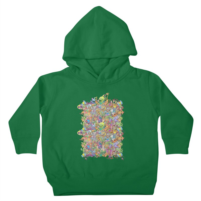 Crazy creatures festival Kids Toddler Pullover Hoody by Zoo&co's Artist Shop