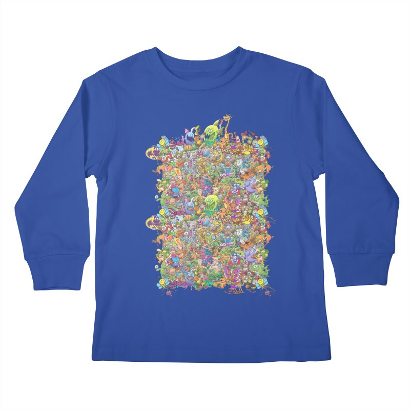 Crazy creatures festival Kids Longsleeve T-Shirt by Zoo&co's Artist Shop