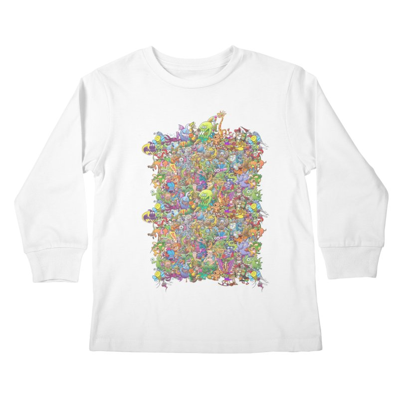 Crazy creatures festival Kids Longsleeve T-Shirt by Zoo&co's Artist Shop