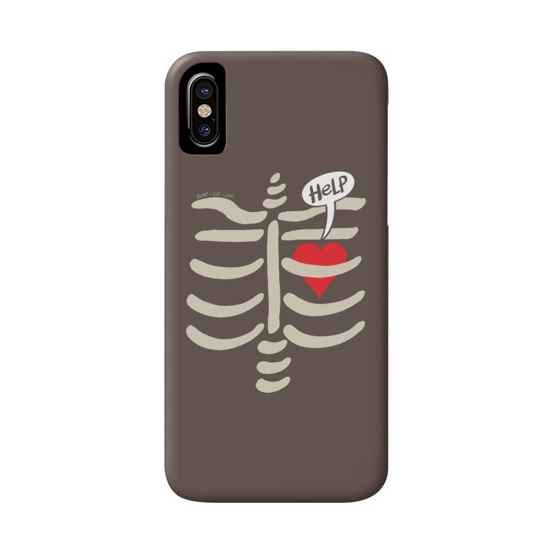 Heart asking for help while imprisoned in a rib cage  Accessories Phone Case by Zoo&co's Artist Shop