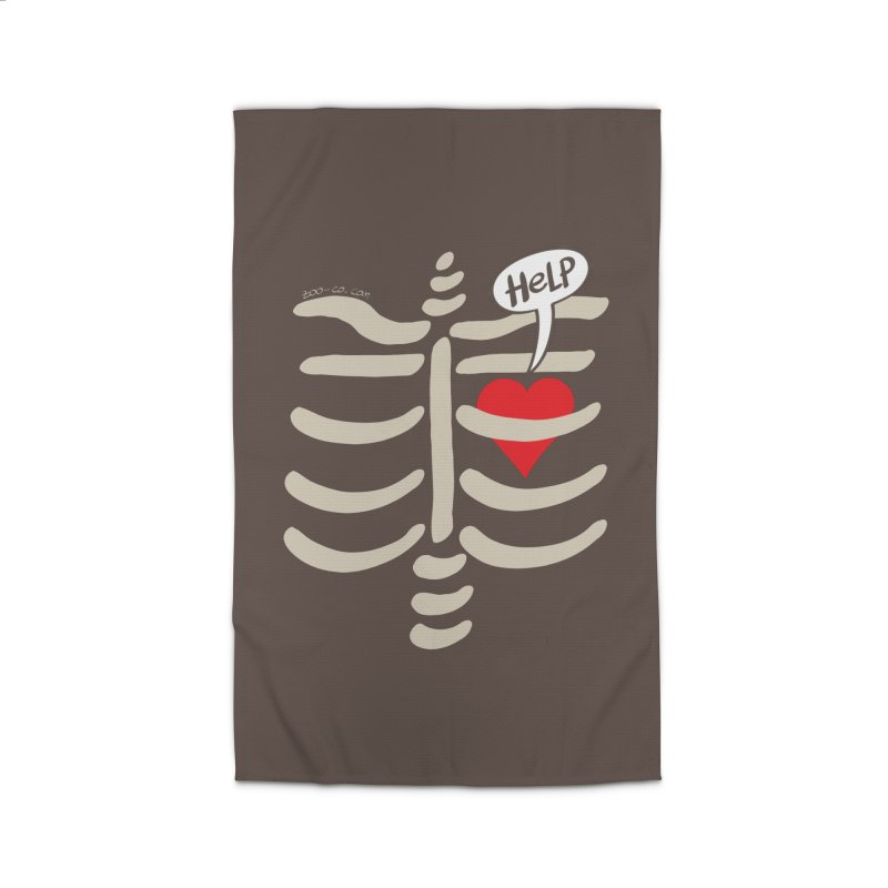 Heart asking for help while imprisoned in a rib cage  Home Rug by Zoo&co's Artist Shop