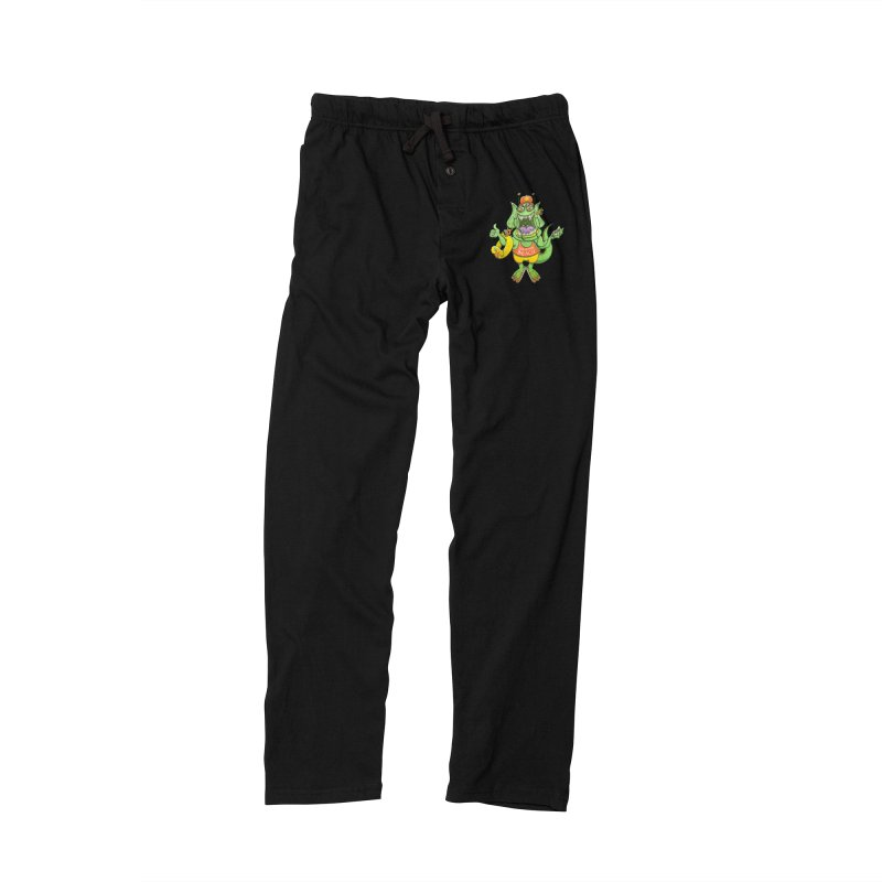 Scary monster rising its thumb to get a ride to the beach Men's Lounge Pants by Zoo&co's Artist Shop
