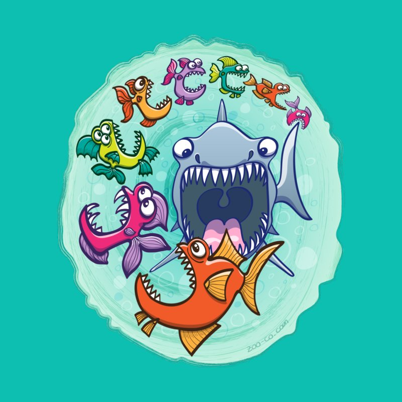 Big fish eat little fish and vice versa by Zoo&co's Artist Shop