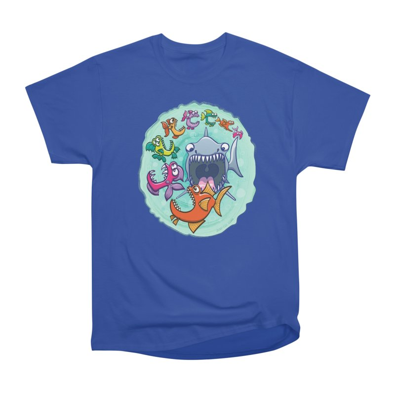 Big fish eat little fish and vice versa Women's Heavyweight Unisex T-Shirt by Zoo&co's Artist Shop