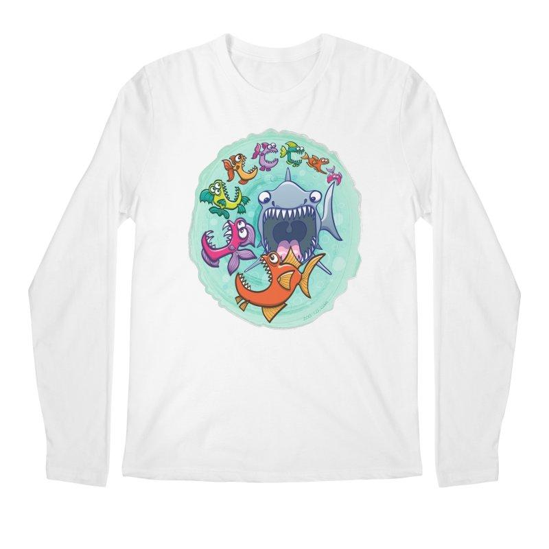Big fish eat little fish and vice versa Men's Longsleeve T-Shirt by Zoo&co's Artist Shop