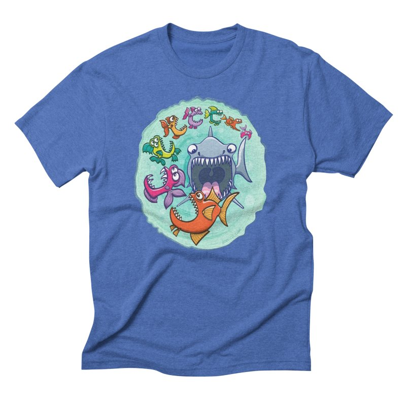 Big fish eat little fish and vice versa Men's Triblend T-Shirt by Zoo&co's Artist Shop