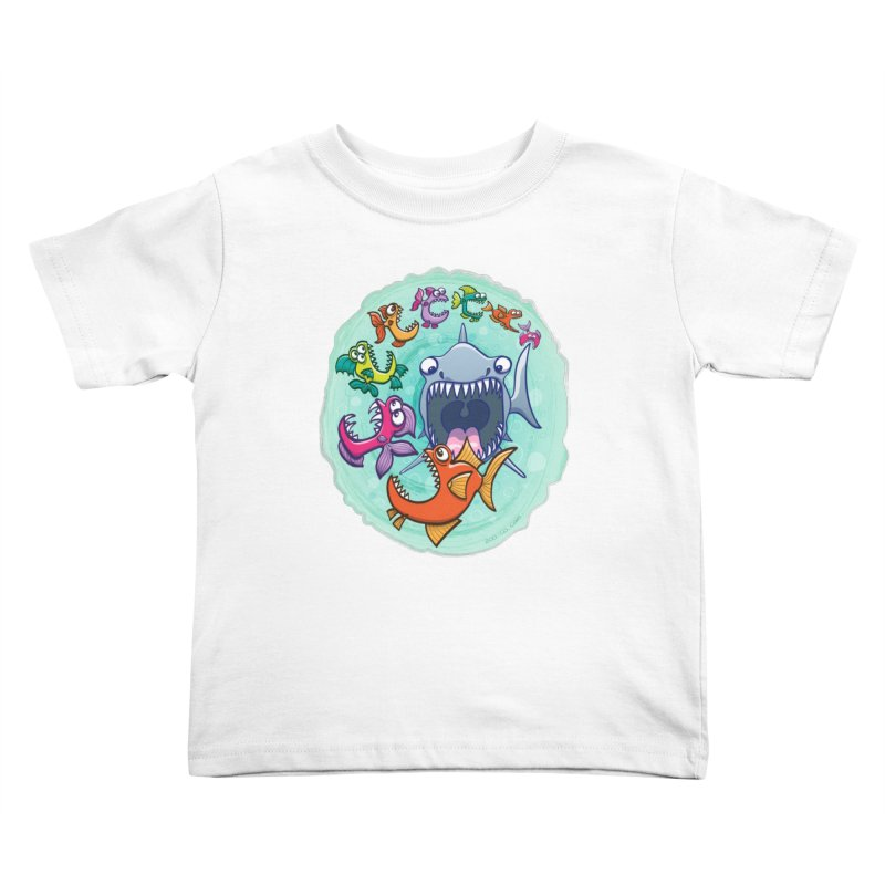 Big fish eat little fish and vice versa Kids Toddler T-Shirt by Zoo&co's Artist Shop