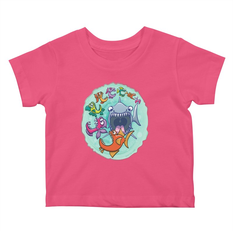 Big fish eat little fish and vice versa Kids Baby T-Shirt by Zoo&co's Artist Shop