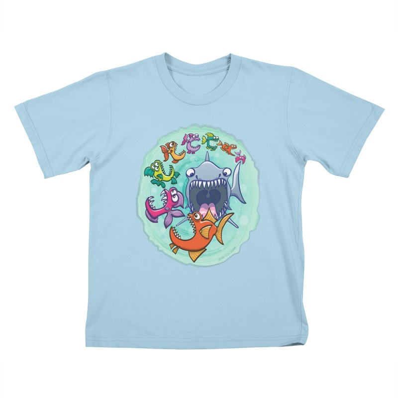 Big fish eat little fish and vice versa Kids T-Shirt by Zoo&co's Artist Shop