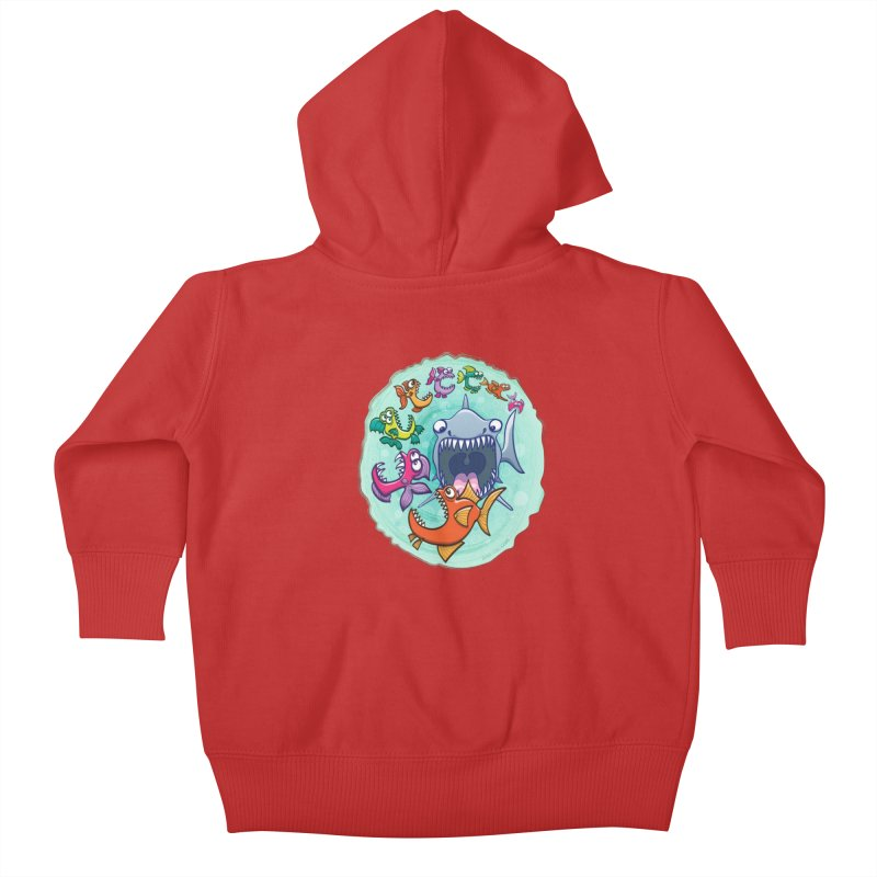 Big fish eat little fish and vice versa Kids Baby Zip-Up Hoody by Zoo&co's Artist Shop