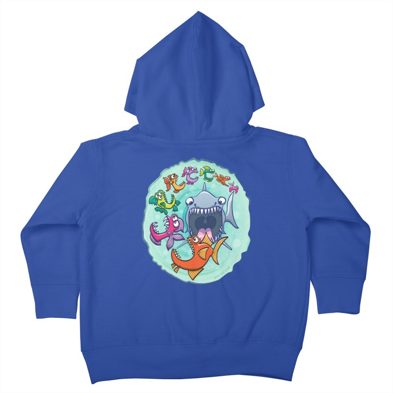 Big fish eat little fish and vice versa Kids Toddler Zip-Up Hoody by Zoo&co's Artist Shop