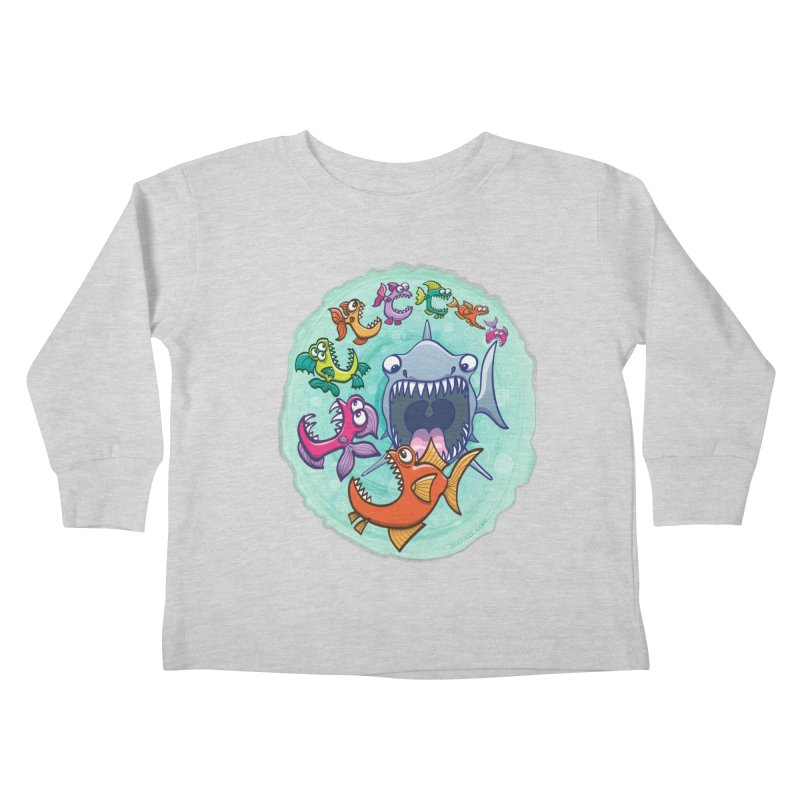 Big fish eat little fish and vice versa Kids Toddler Longsleeve T-Shirt by Zoo&co's Artist Shop