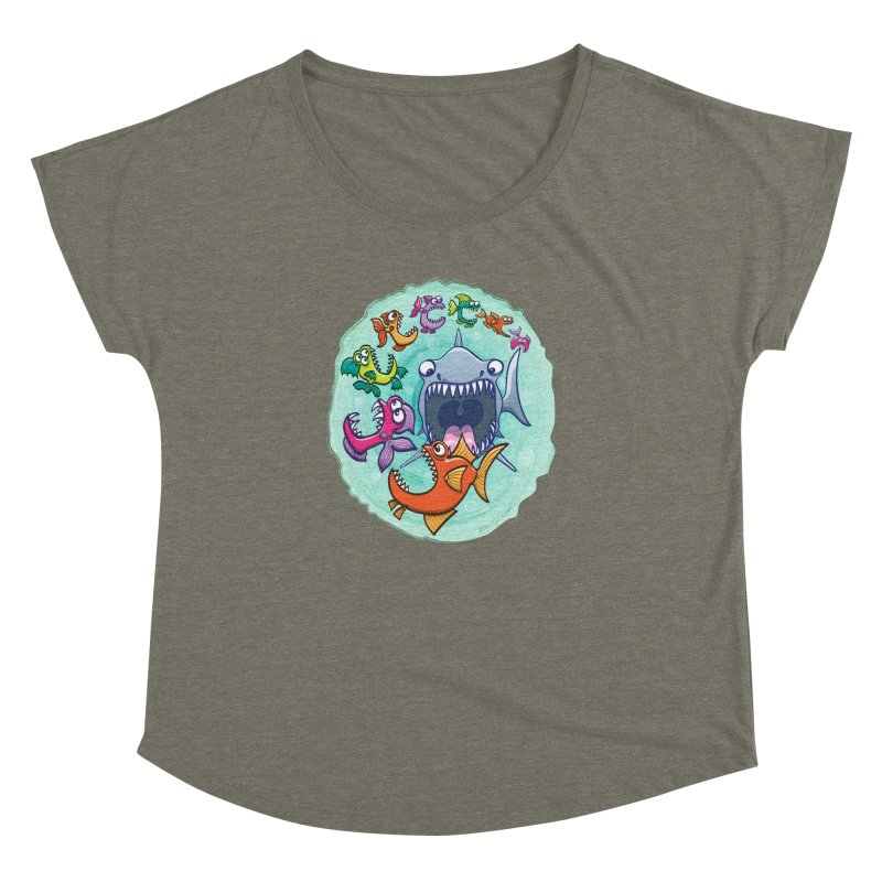 Big fish eat little fish and vice versa Women's Dolman by Zoo&co's Artist Shop