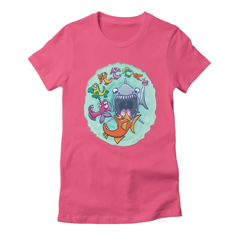 Big fish eat little fish and vice versa Women's Fitted T-Shirt by Zoo&co's Artist Shop