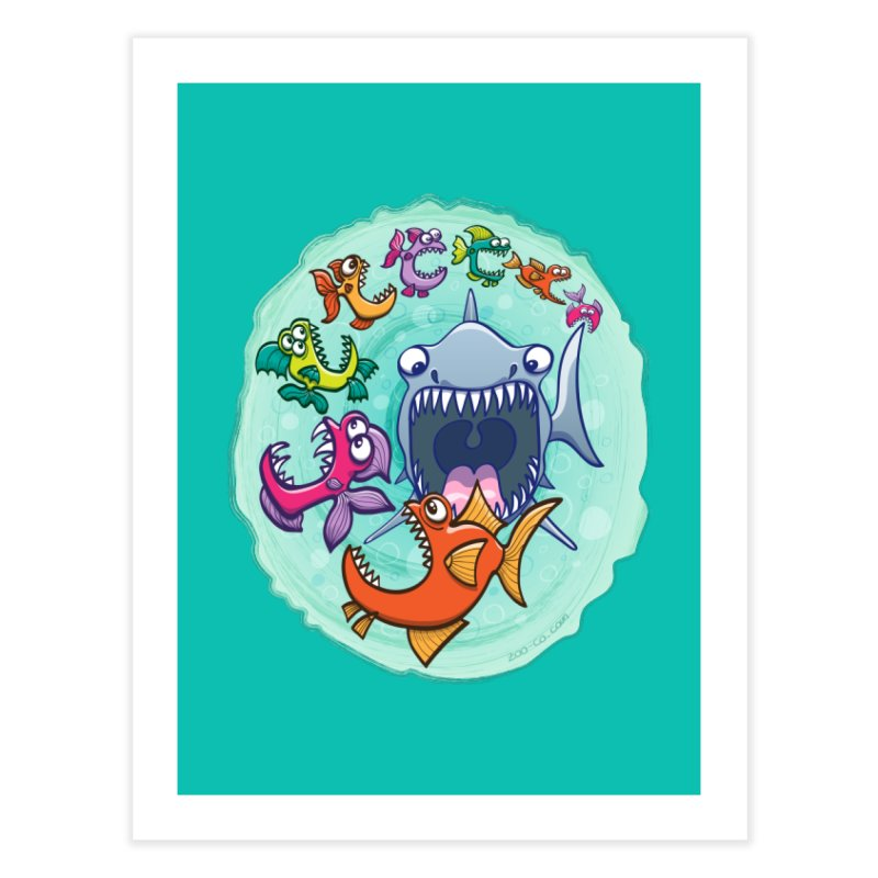 Big fish eat little fish and vice versa Home Fine Art Print by Zoo&co's Artist Shop