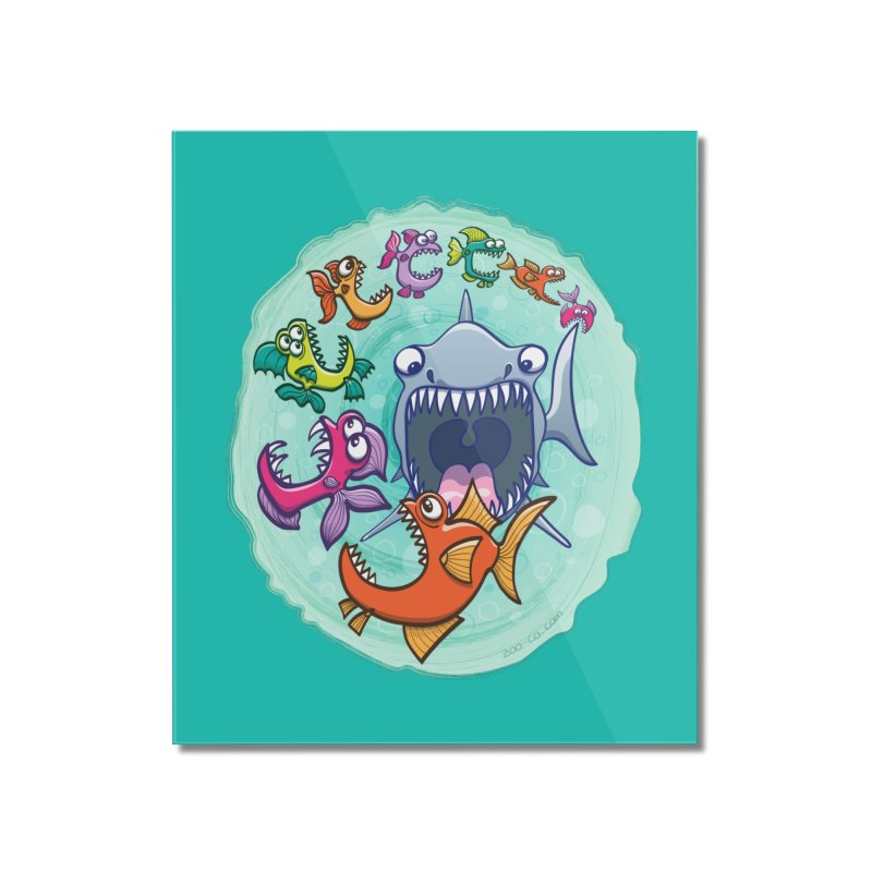 Big fish eat little fish and vice versa Home Mounted Acrylic Print by Zoo&co's Artist Shop