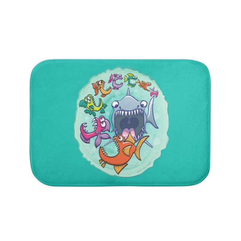 Big fish eat little fish and vice versa Home Bath Mat by Zoo&co's Artist Shop